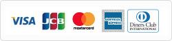 クレジットカード一覧:VISA/JCB/mastercard/AmericanExpress/Diners Club
